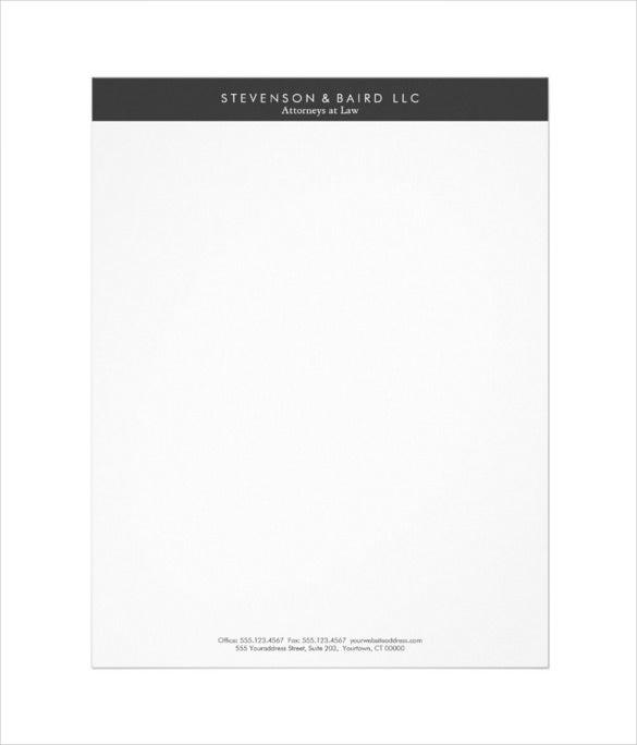 1-Color Letterhead - 8.5 x 11