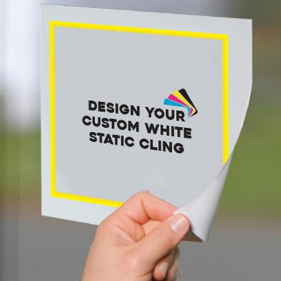 White Static Window Cling