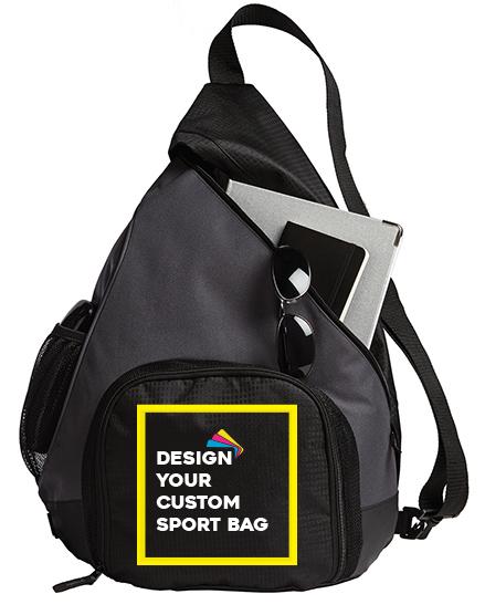 Custom Sport Bag - Dark Charcoal/Black