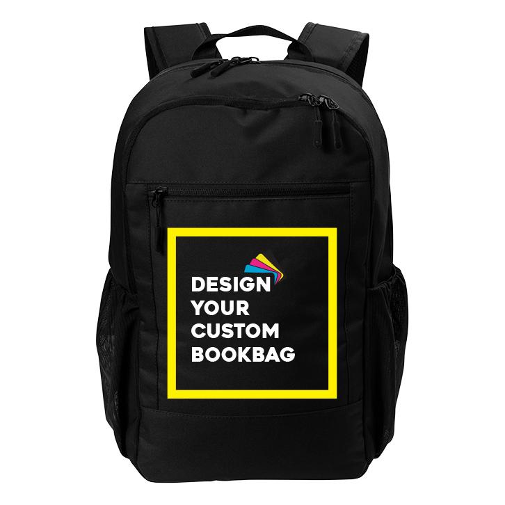 Custom Daily Commute Backpack - Black