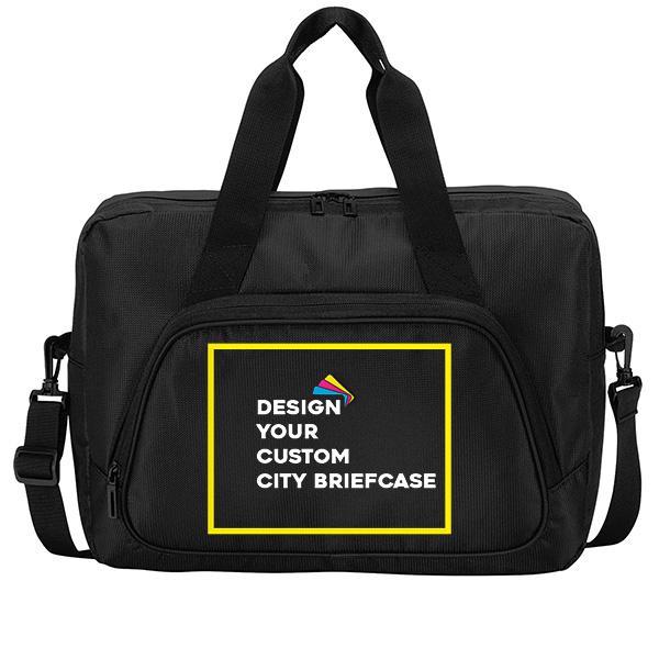 Custom City Briefcase - Black