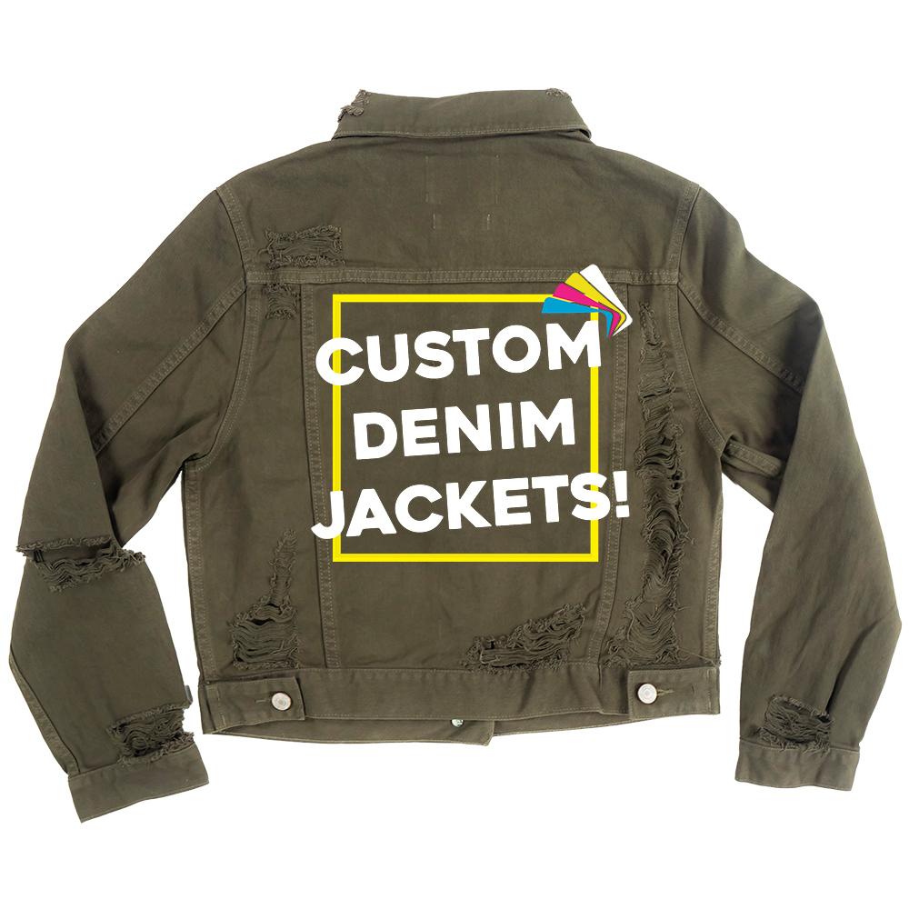 Custom Women's Distressed Olive Classic Fit Jacket