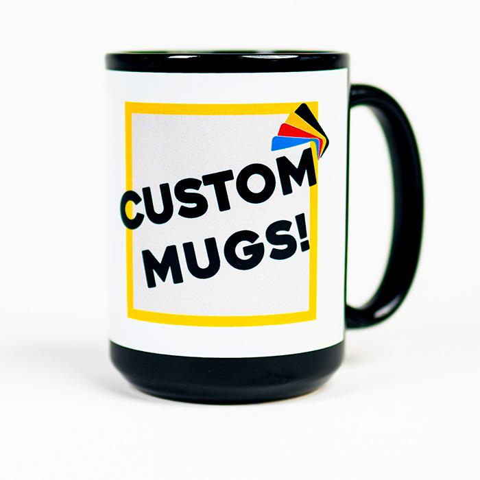 Premium Mug -  Black/White Banner
